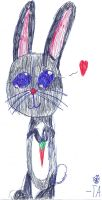 Anime Bunny Sketch by Annaley