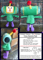 Katamari Damacy - Prince Plush by Kat-Aclysm