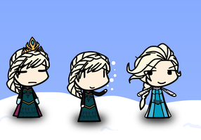 My custom walfas bases - Elsa the Snow Queen (X2) by Rumiflan
