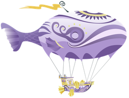 Canterlot Yacht Airship by MisterLolrus