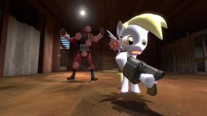 gmod - Demoman teaches Derpy... by Stormbadger