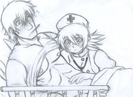 Hans x Seras -Nurse call- by Lsayaku