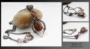 Rutha III- wire wrapped pendant by mea00