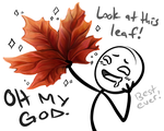 GODDAMN LEAVES. by iKiska