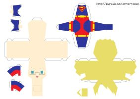 papercraft America Superman 1 by Furesia