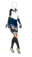 Outfit Adopt - School Girl Mech - SOLD by ShadowInkAdopts