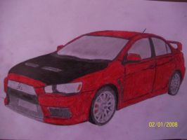 Mitsubishi Lancer Evolution X by jerzyna-chan