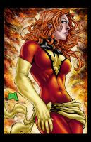 Dark Phoenix Colored by hanzozuken