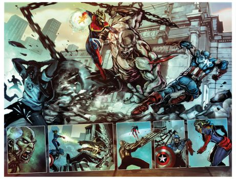 captain marvel #1 spread by nefar007