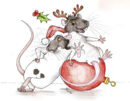 rat christmas by rat-talks