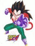 Vegeta Super Saiyan 4 by AbajiTheGreat