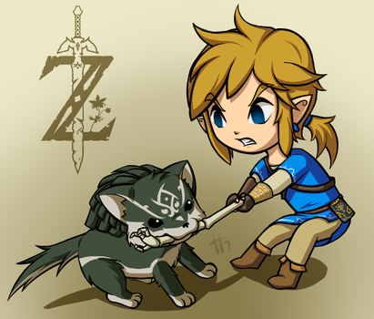 TLoZ: Return of Puppy Link by Tharene