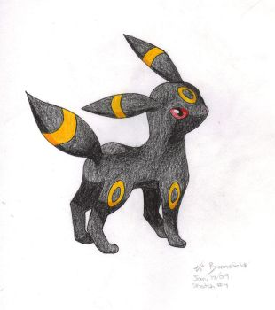 Umbreon by Firehorse-demon