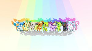 Shiny Eeveelution Collection Wallpaper by RebeccaAlexa