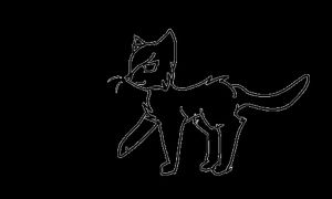 Cat Walk Cycle Lineart [20 Points to use] by PurryProductions-Inc