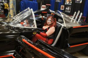 Harley and the Batmobile II by LolitaLibrarian