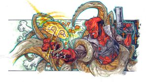 Hellboy: Hammer of the Gods by illustrated1
