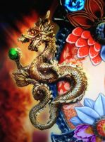Golden dragon by isaac77598