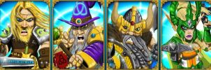 Warlord portraits for Warlords RTS by ThaneBobo