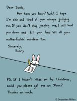 Bunny's Letter to Santa by sebreg