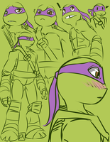 TMNT: Donnie sketches by Fulcrumisthebomb
