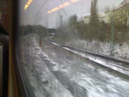 Window at the train... by LisaKM