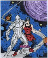 Silver Surfer artist Proof Commission by mdavidct