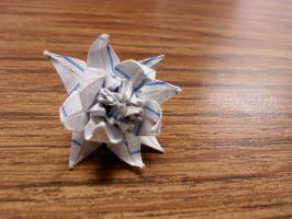 Extremely Small Origami Flower by GoldWinds