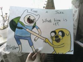 Finn and jake by IcarusHope