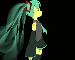 hatsune miku by shadowthehedgehog109
