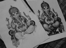 Lord Ganesha WIP 2 by Electricgod