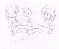 Commish: Aqua Princesses by Nintendrawer