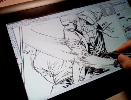 It very fun for inking on Cintiq. by aenaluck