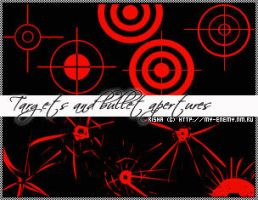 Targets and bullet apertures by Alterna666