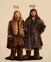 Fili and Kili by valerinam