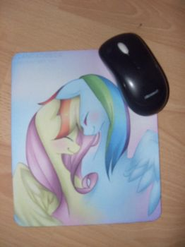 My new Flutterdash Mousepad by Dribmeg