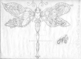 Dragonfly Paisley Tattoo 4 by EisArt
