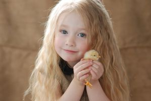Little girl with chicken_3 by anastasiya-landa