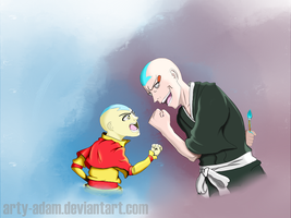 Madarame Ikkaku found a worthy opponent.... by Arty-Adam