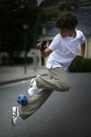 Kid with a ball by fb101
