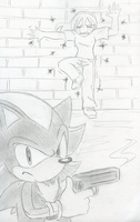 Shadow's Pretty New Boom Stick by SonicRocksMySocks