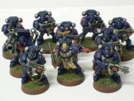 Crimson Fists Tactical Squad 1 by Narzoth