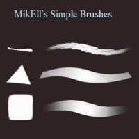 MikEll 3 main brushes .ABR version by balloonwatch