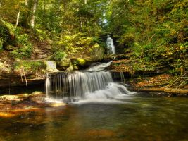 Ricketts Glen State Park 34 by Dracoart-Stock