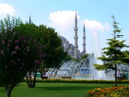 Sultanahmet Camii front park by uK-chan