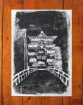 Bathhouse from Spirited Away Lino Poster by RavensWritingDesk