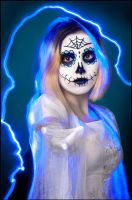 Blue Light Sugar Skull by Lymanjames