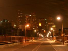 Minneapolis at Night by jfreshbloomer