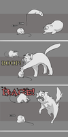 Cat vs. Rats by DawnFrost