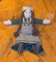 Inga - viking doll by Laerad